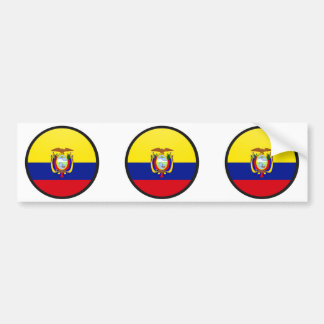 Ecuador quality Flag Circle Car Bumper Sticker