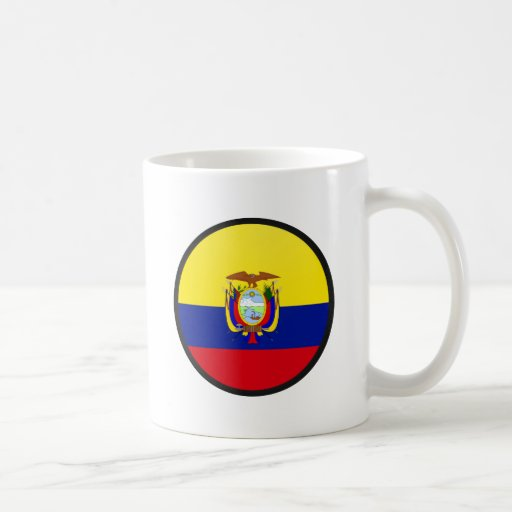 Ecuador quality Flag Circle Coffee Mug