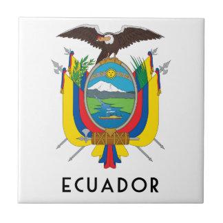 Ecuador - símbolo/escudo de armas/bandera/colores/ tejas  cerámicas