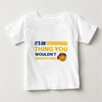 Ecuador Smiley Designs Baby T-Shirt