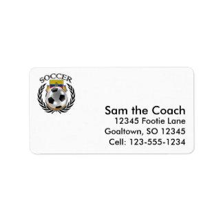 Ecuador Soccer 2016 Fan Gear Label