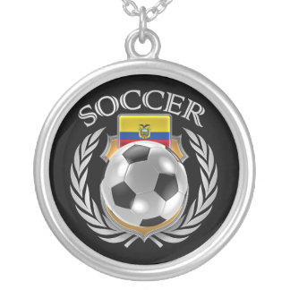 Ecuador Soccer 2016 Fan Gear Silver Plated Necklace