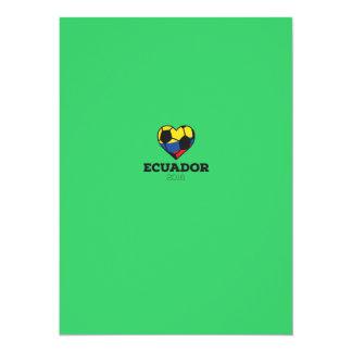 Ecuador Soccer Shirt 2016 Card