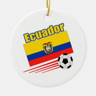 Ecuador Soccer Team Christmas Tree Ornament