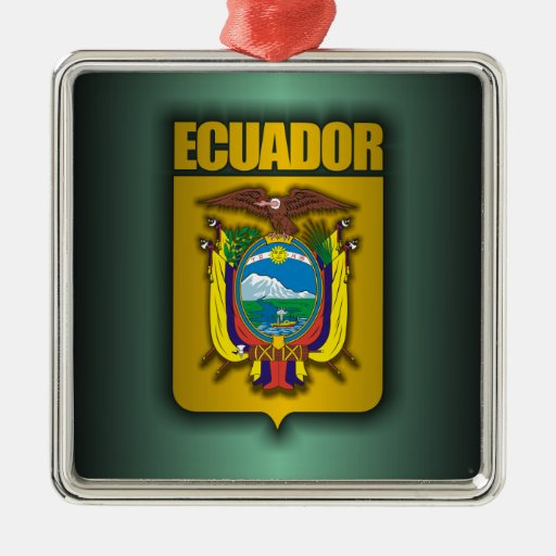 """Ecuador Steel"" Christmas Ornament"