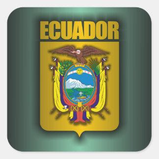 """""""Ecuador Steel"""" Square Sticker"""