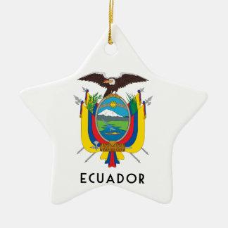 Ecuador - symbol/coat of arms/flag/colors/emblem ceramic ornament