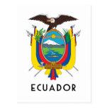 Ecuador - symbol/coat of arms/flag/colors/emblem postcard