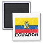 Ecuador Vintage Flag Magnet