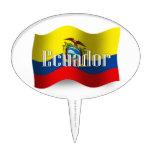 Ecuador Waving Flag Cake Toppers