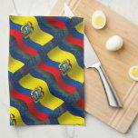 Ecuador Waving Flag Hand Towels