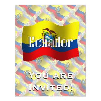 Ecuador Waving Flag 4.25x5.5 Paper Invitation Card