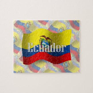 Ecuador Waving Flag Jigsaw Puzzle