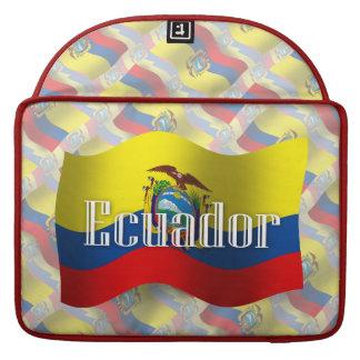Ecuador Waving Flag Sleeve For MacBook Pro
