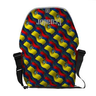 Ecuador Waving Flag Messenger Bag