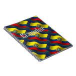 Ecuador Waving Flag Note Book