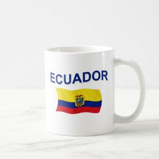 Ecuador Wavy Flag Coffee Mug