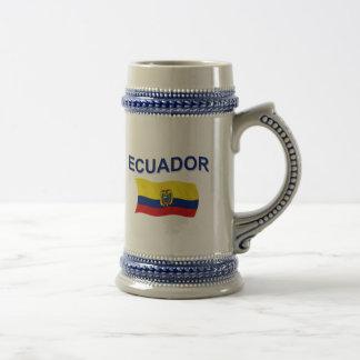 Ecuador Wavy Flag Mug