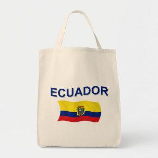 Ecuador Wavy Flag Tote Bag