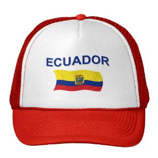 Ecuador Wavy Flag Trucker Hat