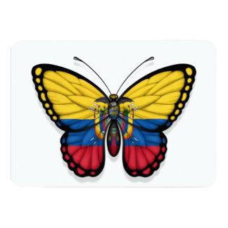 Ecuadorian Butterfly Flag 5x7 Paper Invitation Card