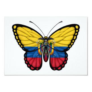 Ecuadorian Butterfly Flag 3.5x5 Paper Invitation Card