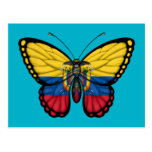 Ecuadorian Butterfly Flag Postcard
