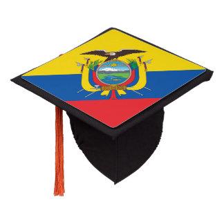 Ecuadorian flag graduation cap topper