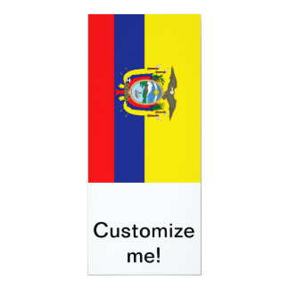 Ecuadorian Flag 4x9.25 Paper Invitation Card