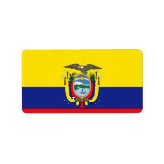 Ecuadorian Flag Label