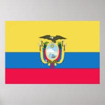 Ecuadorian flag poster