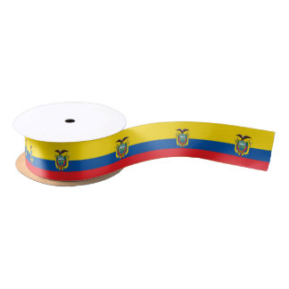 Ecuadorian flag ribbon satin ribbon