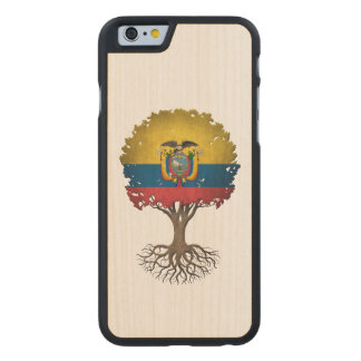 Ecuadorian Flag Tree of Life Customizable Carved Maple iPhone 6 Slim Case