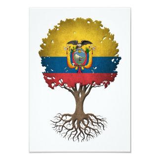 Ecuadorian Flag Tree of Life Customizable 3.5x5 Paper Invitation Card
