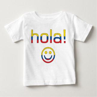 Ecuadorian Gifts : Hello / Hola + Smiley Face Baby T-Shirt