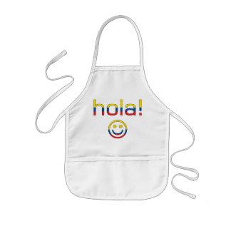 Ecuadorian Gifts : Hello / Hola + Smiley Face Kids' Apron