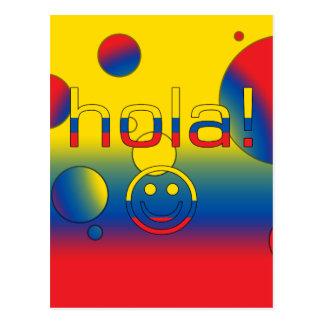 Ecuadorian Gifts : Hello / Hola + Smiley Face Postcard