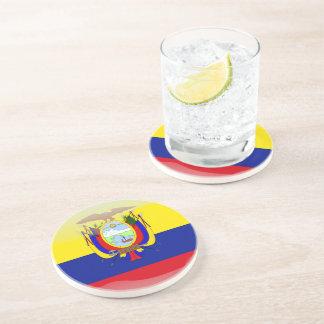Ecuadorian glossy flag drink coaster