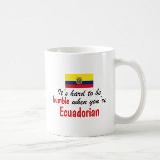 Ecuadorian humilde tazas de café