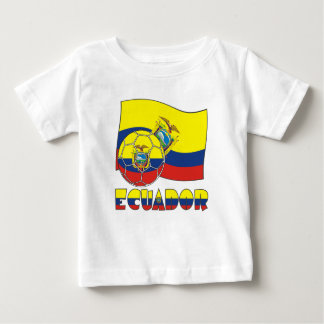 Ecuadorian Soccer Ball and Flag Infant T-shirt