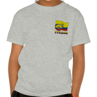 Ecuadorian Soccer Ball and Flag Shirt