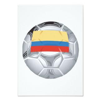 Ecuadorian Soccer Ball 5x7 Paper Invitation Card