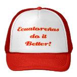 ¡Ecuatoreñas mejora! Gorras