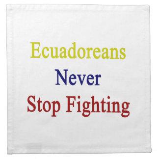 Ecuatorianos nunca paran el luchar servilletas imprimidas