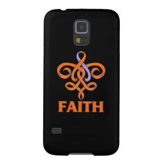 Eczema and Psoriasis Faith Fleur de Lis Ribbon Galaxy S5 Cover