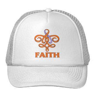 Eczema and Psoriasis Faith Fleur de Lis Ribbon Trucker Hat