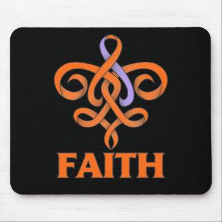 Eczema and Psoriasis Faith Fleur de Lis Ribbon Mouse Pad