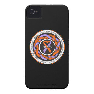 Eczema and Psoriasis Hope Intertwined Ribbon iPhone 4 Case-Mate Case