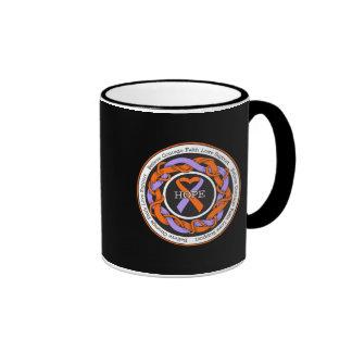 Eczema and Psoriasis Hope Intertwined Ribbon Ringer Coffee Mug