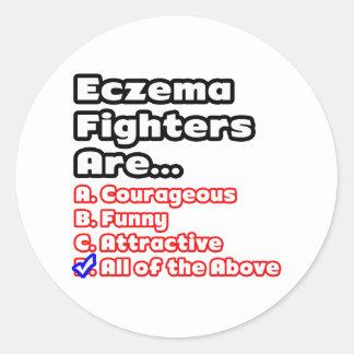Eczema Fighter Quiz Classic Round Sticker